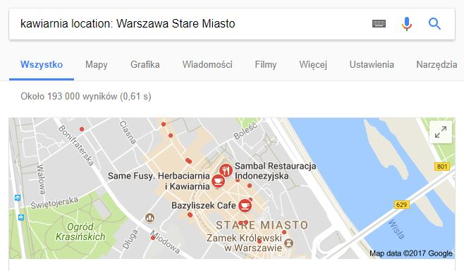Geolokalizacja operator location