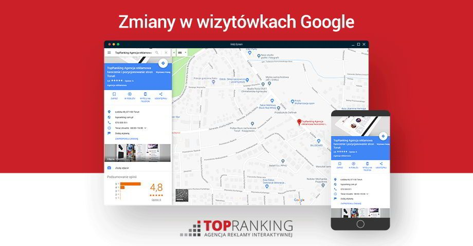 Najważniejsze zmiany dotyczące wizytówek Google